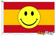 SPAIN SMILEY FACE  ANYFLAG RANGE - VARIOUS SIZES